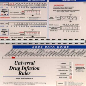 Universal Drug Infusion Ruler Made Easy